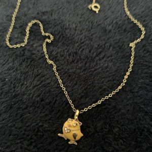 Small gold Easter necklace